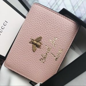 Gucci Animalier Card Case Blind For Love Wallet